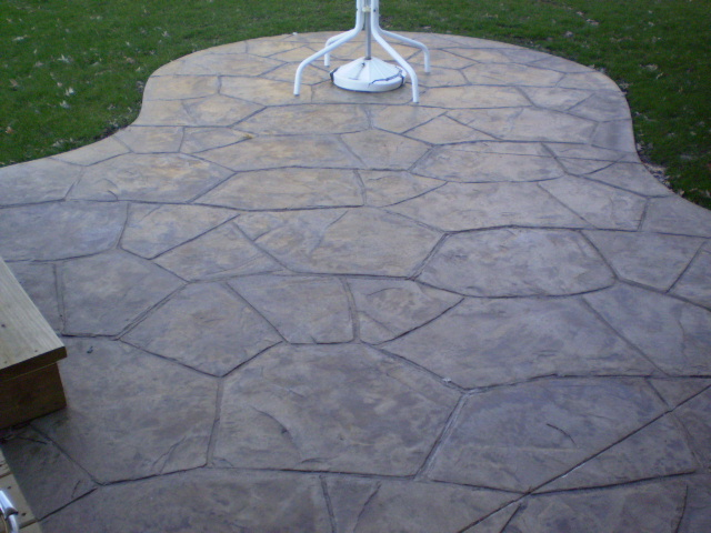 Stamped concrete sample 2